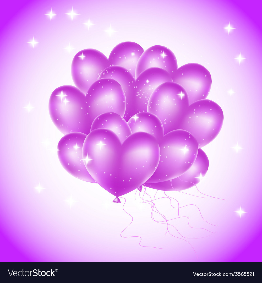 Violet heat balloons vector | Price: 1 Credit (USD $1)