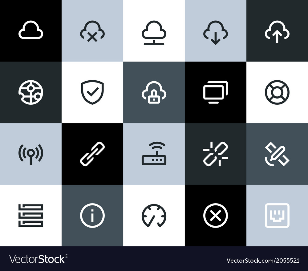 Wireless network icons flat vector | Price: 1 Credit (USD $1)