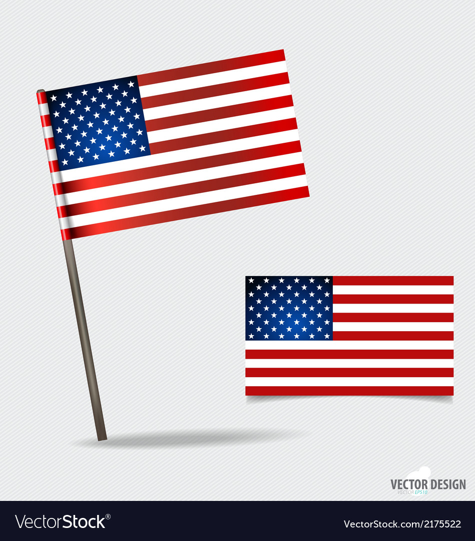 American flag vector   Price: 1 Credit (USD $1)