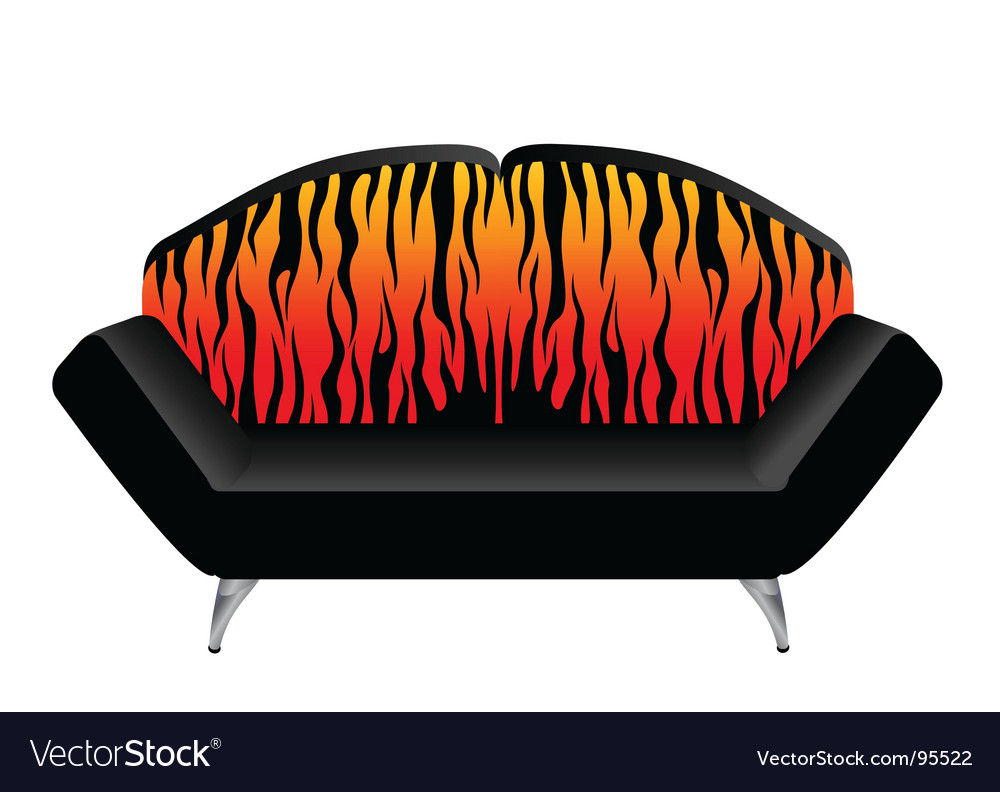 Animal print chair vector | Price: 1 Credit (USD $1)