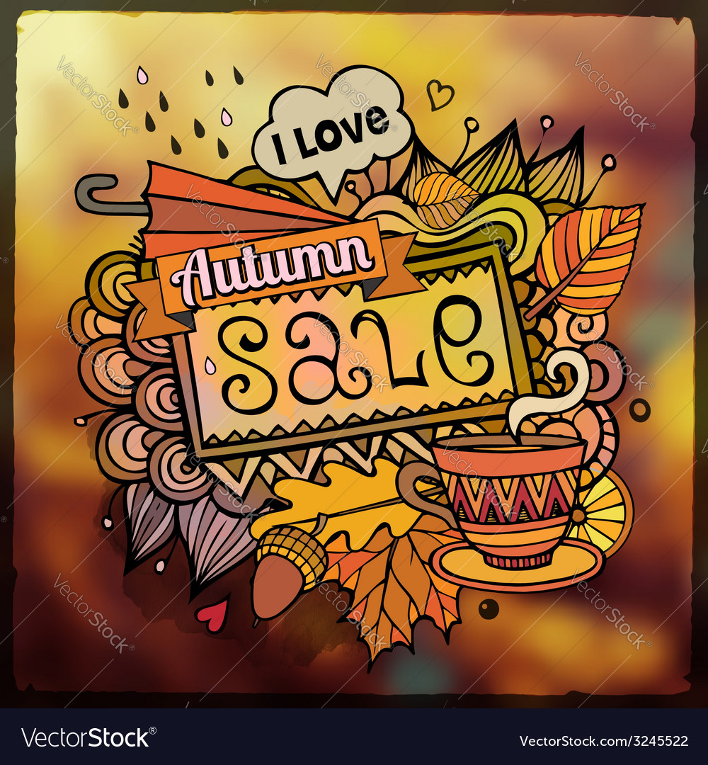 Autumn sale blurred background vector | Price: 1 Credit (USD $1)