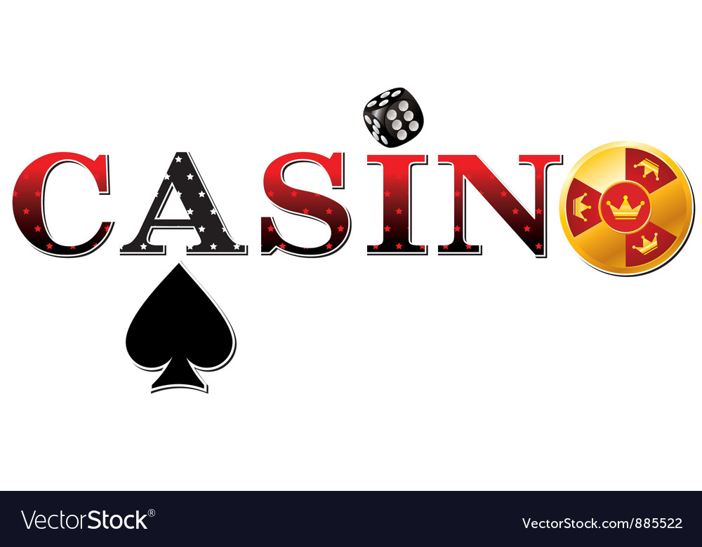Casino sign white vector | Price: 1 Credit (USD $1)