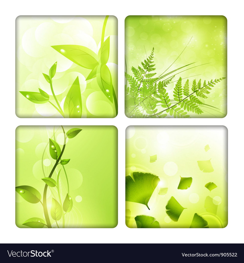Eco background collection vector | Price: 1 Credit (USD $1)