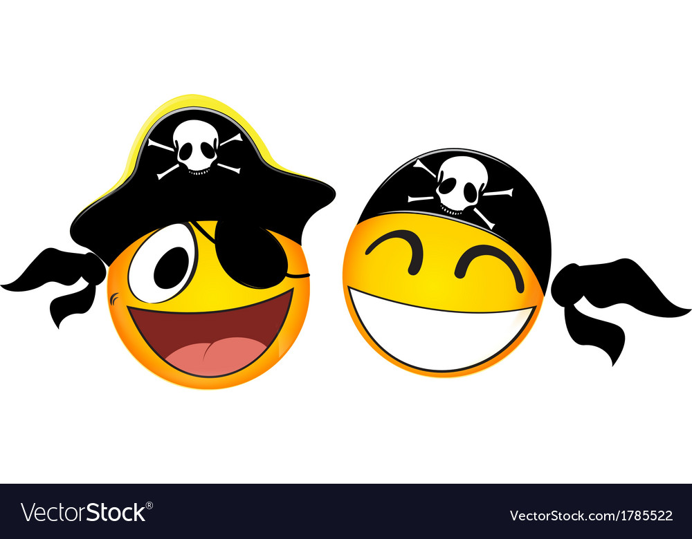 Emoticons pirate vector | Price: 1 Credit (USD $1)