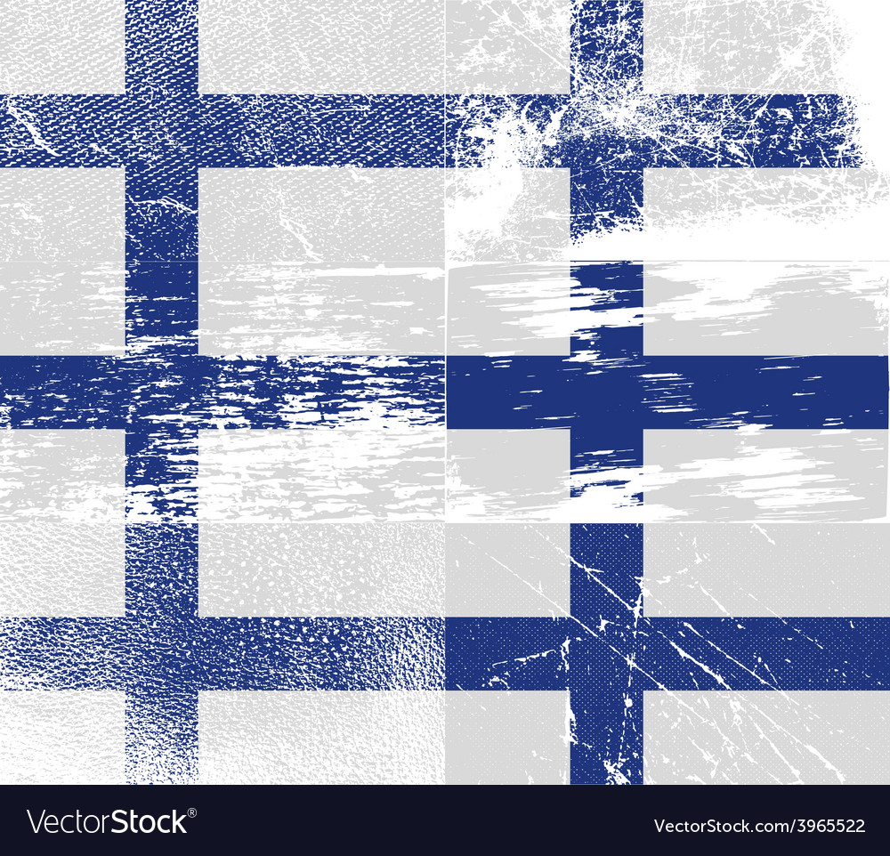 Flag of finland with old texture vector | Price: 1 Credit (USD $1)