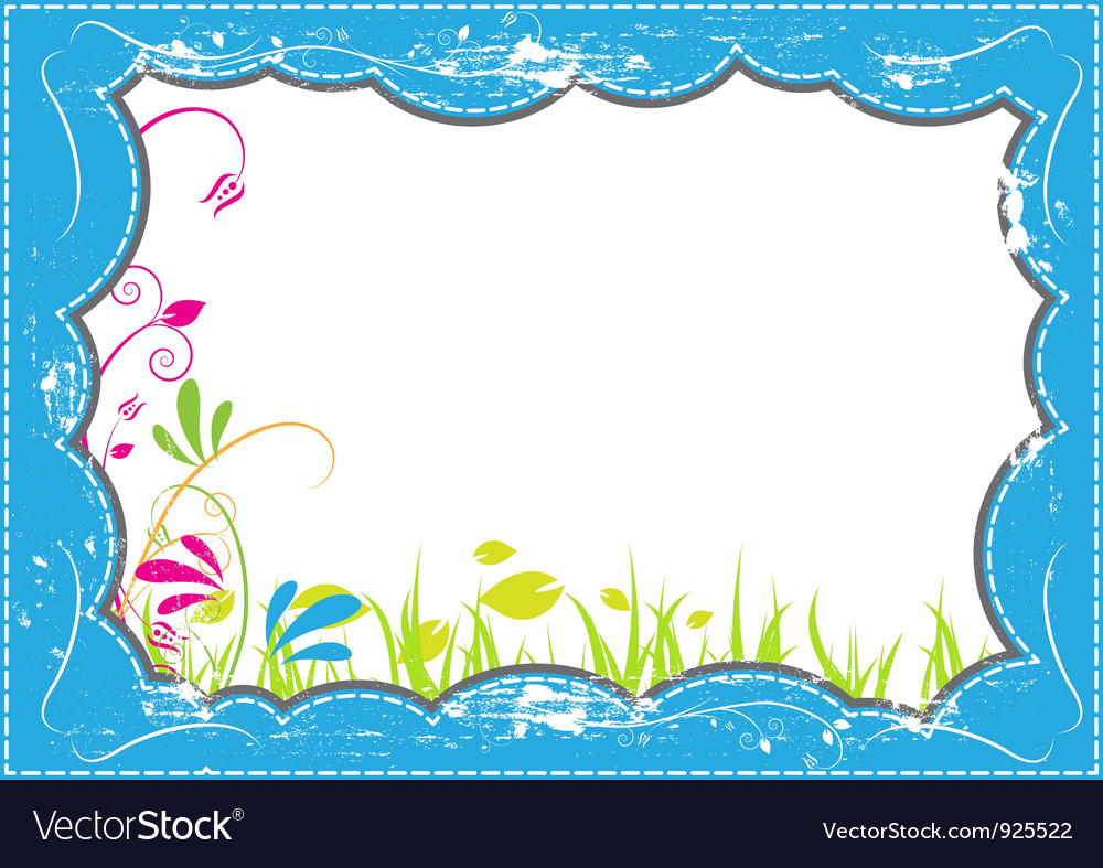 Grunge frame with nature vector | Price: 1 Credit (USD $1)