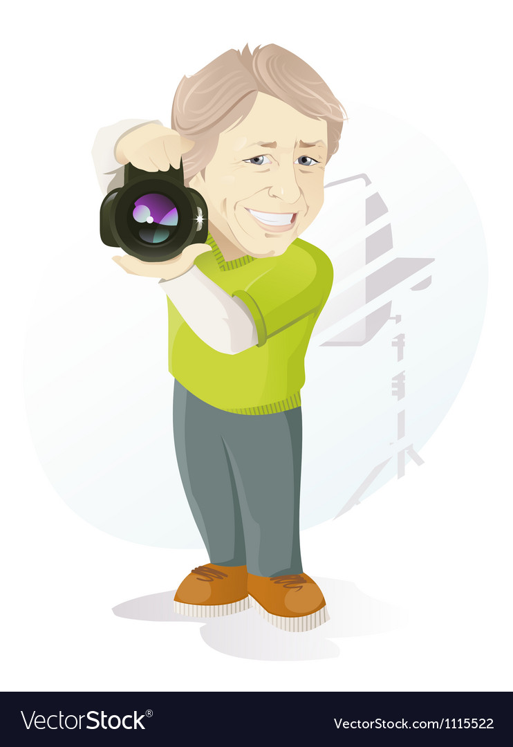 Photographer at work vector | Price: 3 Credit (USD $3)