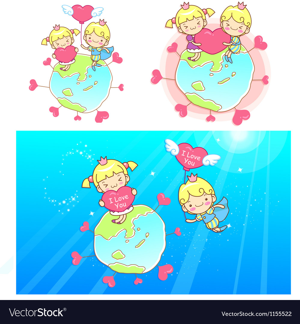 The prince proposed to love is princess mascot vector | Price: 1 Credit (USD $1)