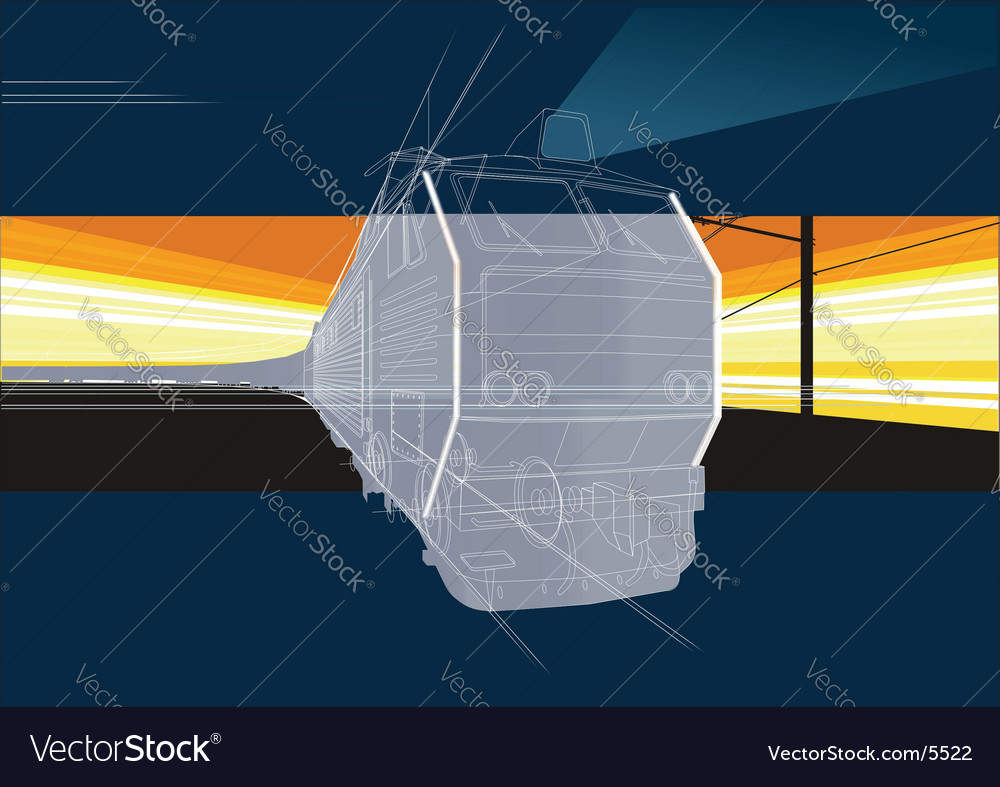 Railway background vector | Price: 3 Credit (USD $3)