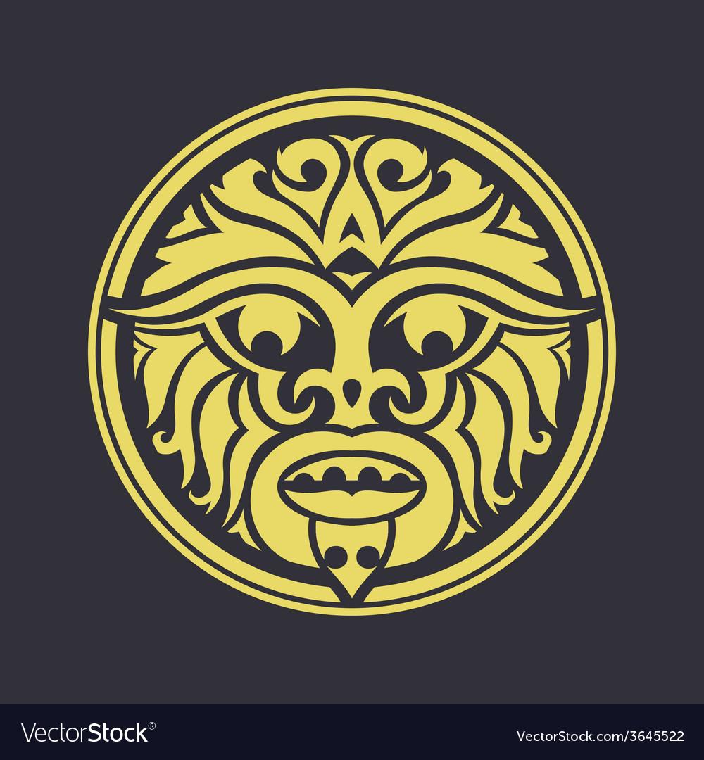 Tribal mask vector | Price: 1 Credit (USD $1)