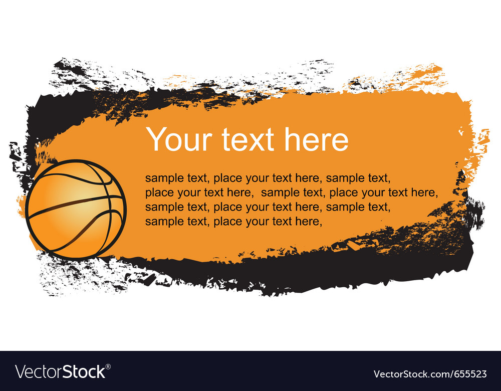 Basketball frame vector | Price: 1 Credit (USD $1)