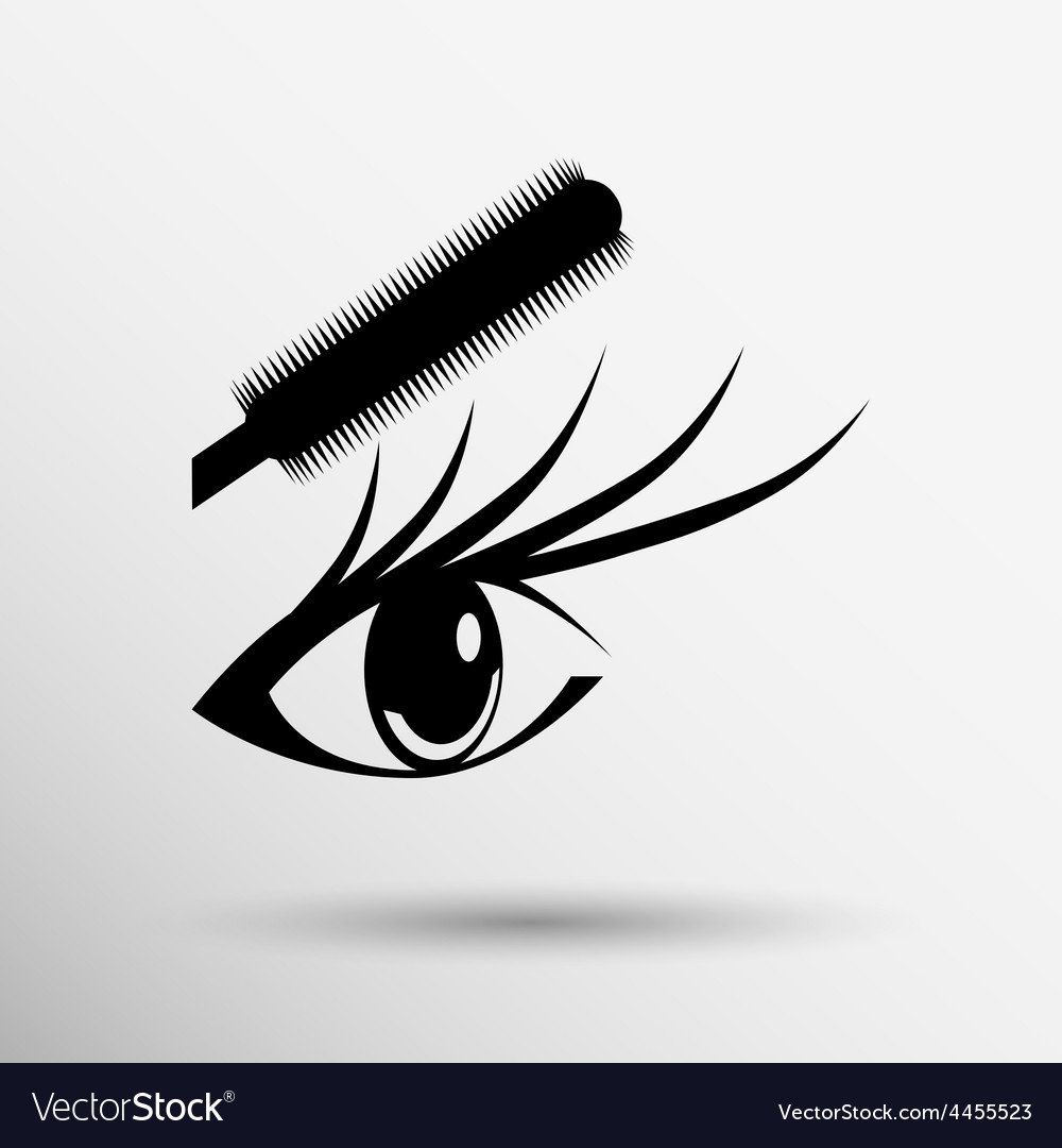 Beautiful female blue eye mascara vector | Price: 1 Credit (USD $1)