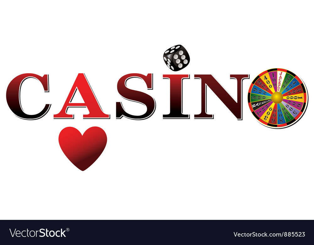 Casino sign white fort vector | Price: 1 Credit (USD $1)