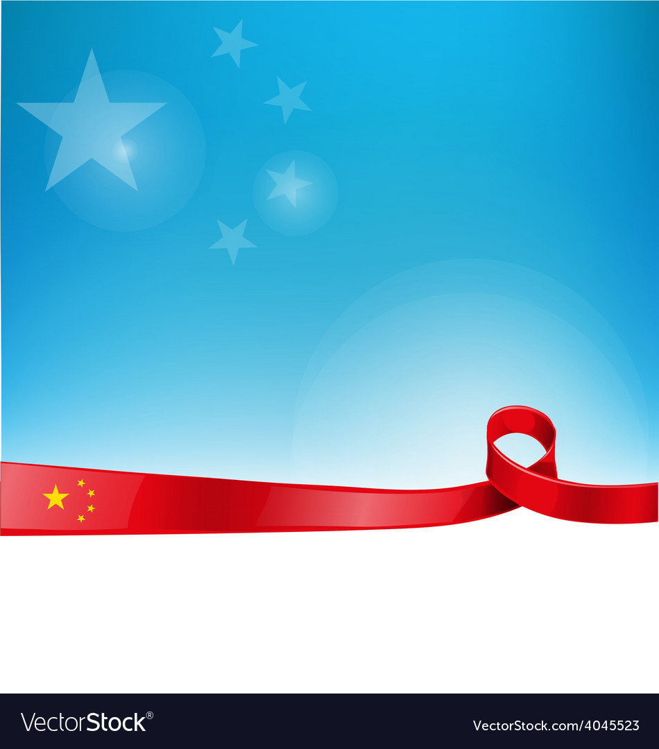 China flag background vector | Price: 1 Credit (USD $1)