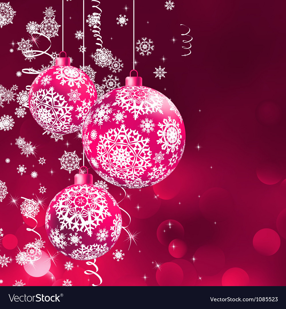Christmas balls over orange bokeh eps 8 vector | Price: 1 Credit (USD $1)