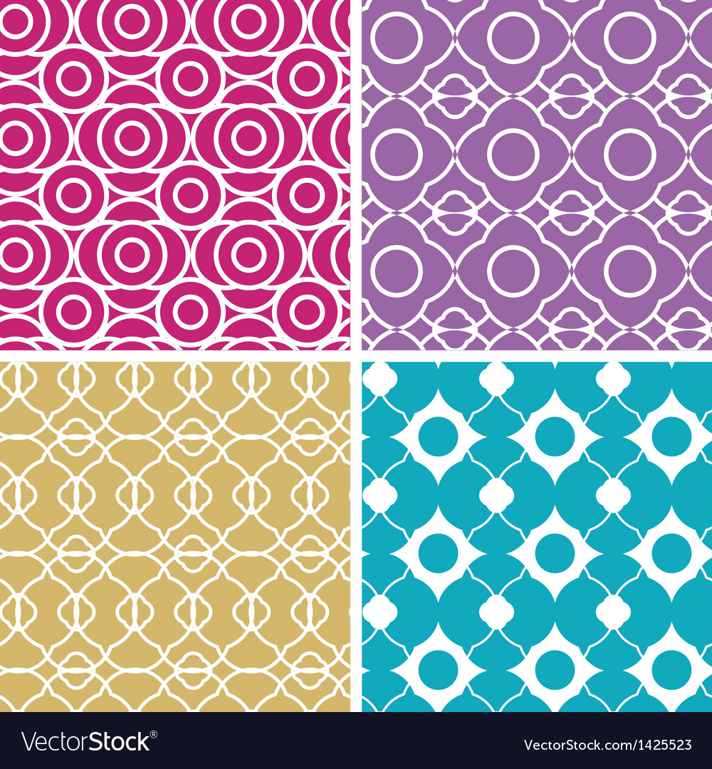 Colorful abstract lineart geometric seamless vector | Price: 1 Credit (USD $1)