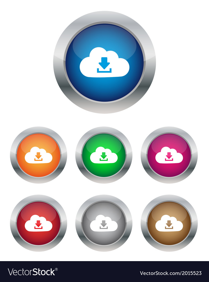 Download from cloud buttons vector | Price: 1 Credit (USD $1)