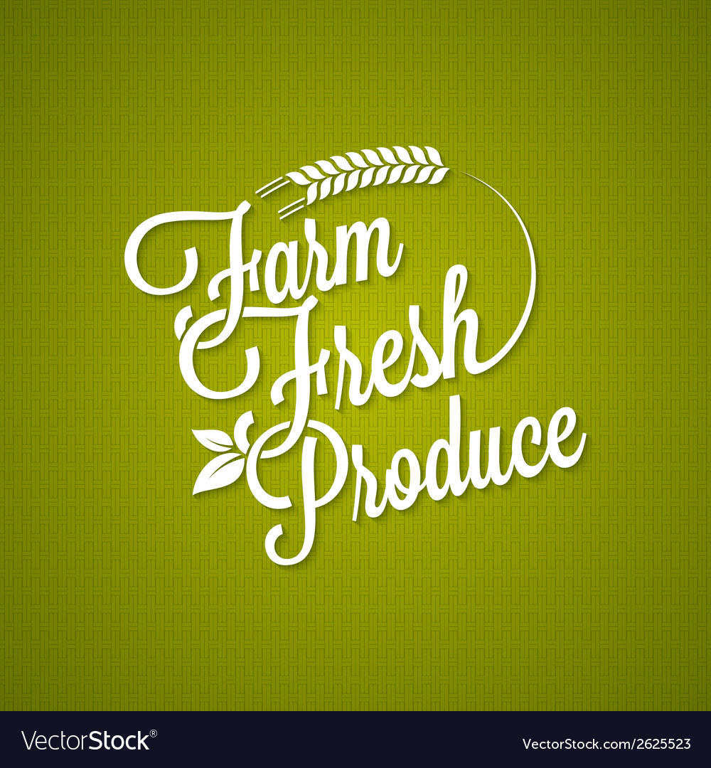 Farm fresh vintage lettering background vector | Price: 1 Credit (USD $1)