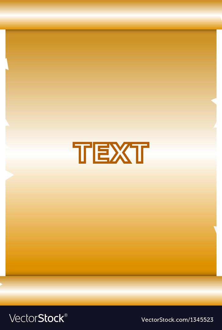 Gold manuscript vector | Price: 1 Credit (USD $1)