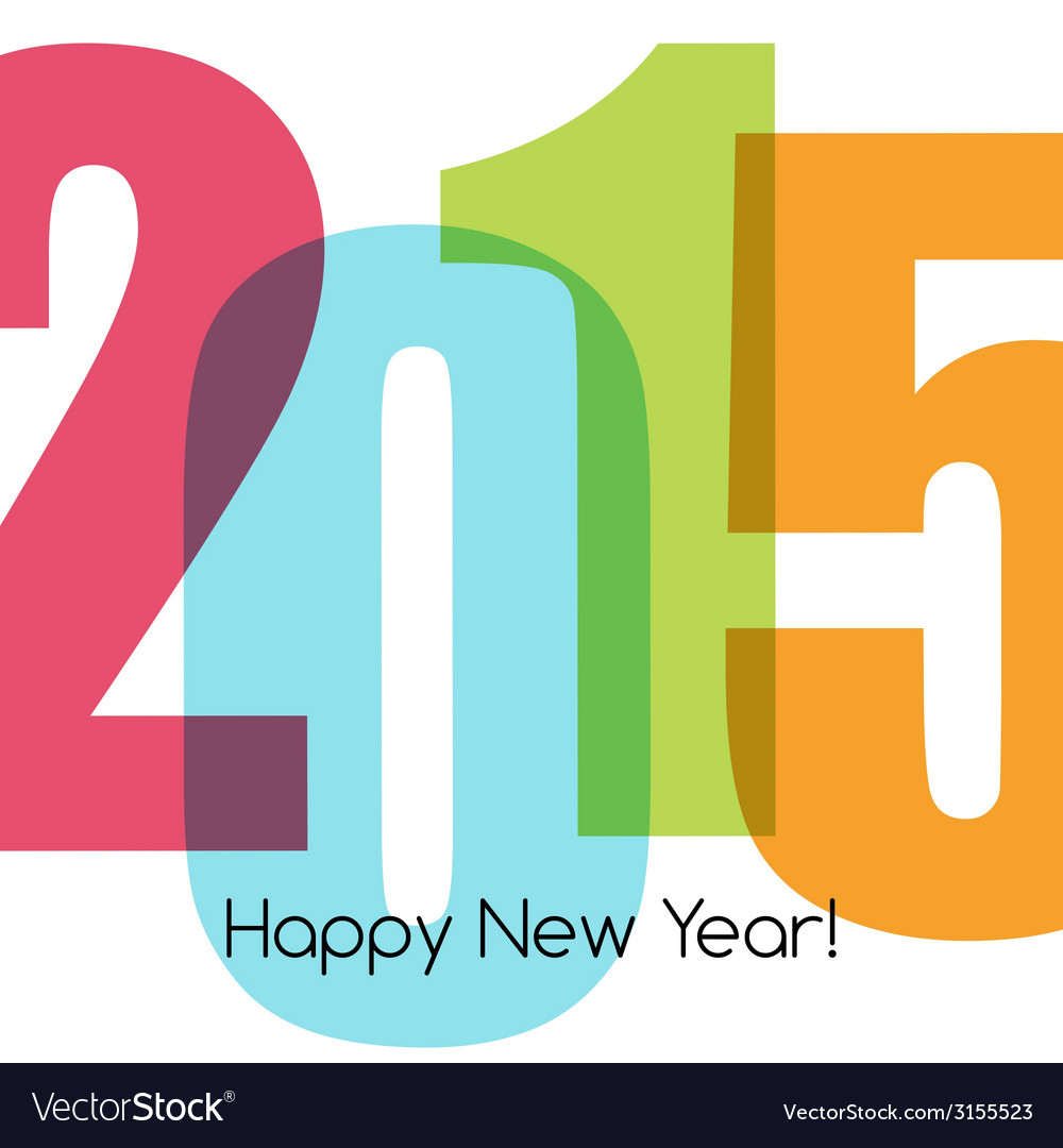 Happy new year greeting with number vector | Price: 1 Credit (USD $1)