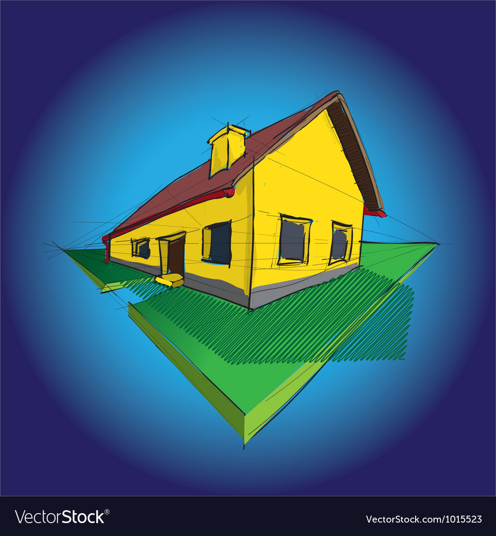 House diagram vector | Price: 1 Credit (USD $1)