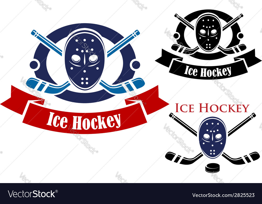 Ice hockey symbols set vector | Price: 1 Credit (USD $1)