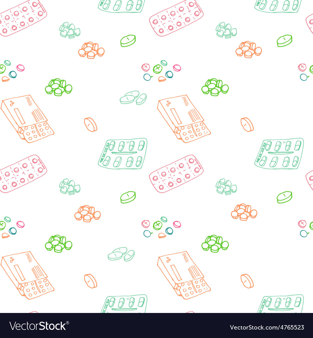 Seamless pattern for background medical vector | Price: 1 Credit (USD $1)