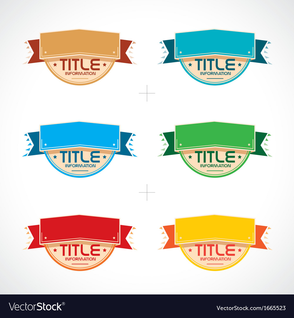 Set of colorful frames vector | Price: 1 Credit (USD $1)