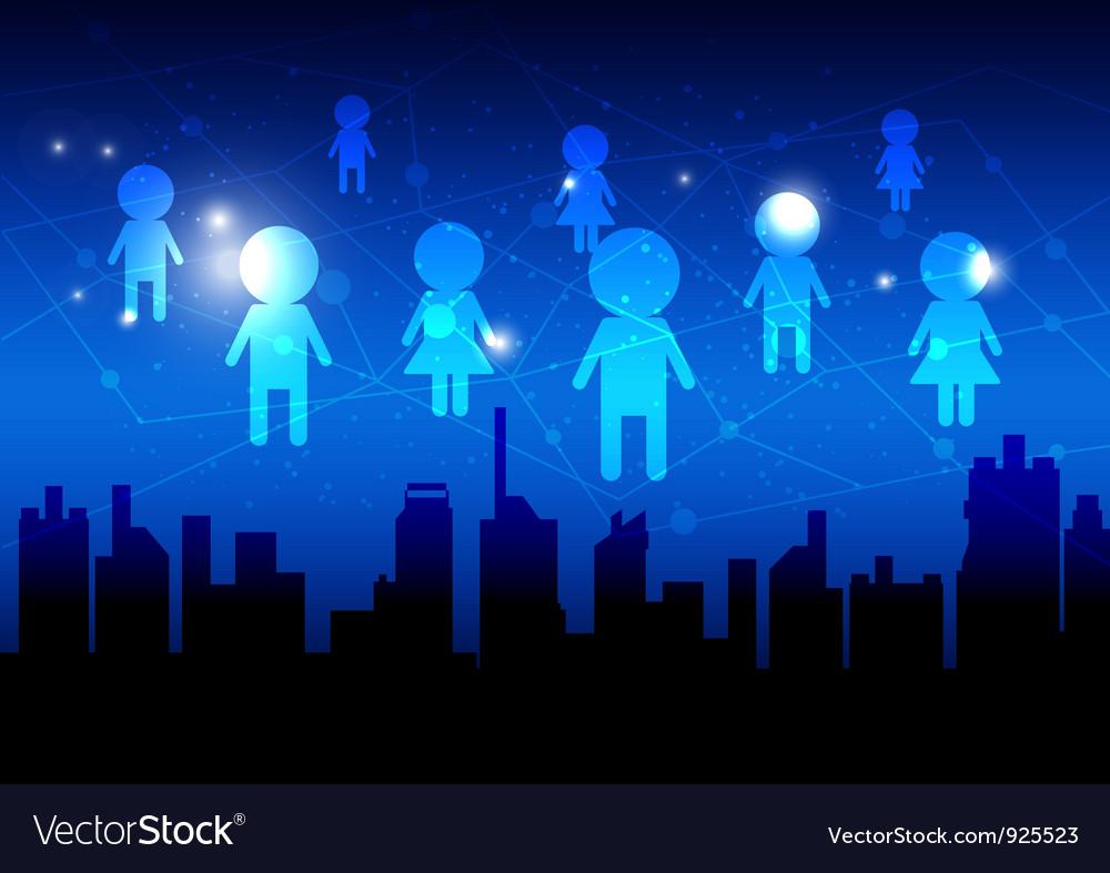 Social media network vector | Price: 1 Credit (USD $1)
