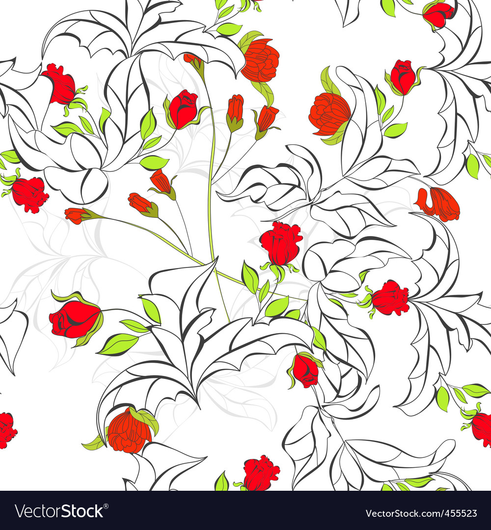 Spring seamless background vector   Price: 1 Credit (USD $1)