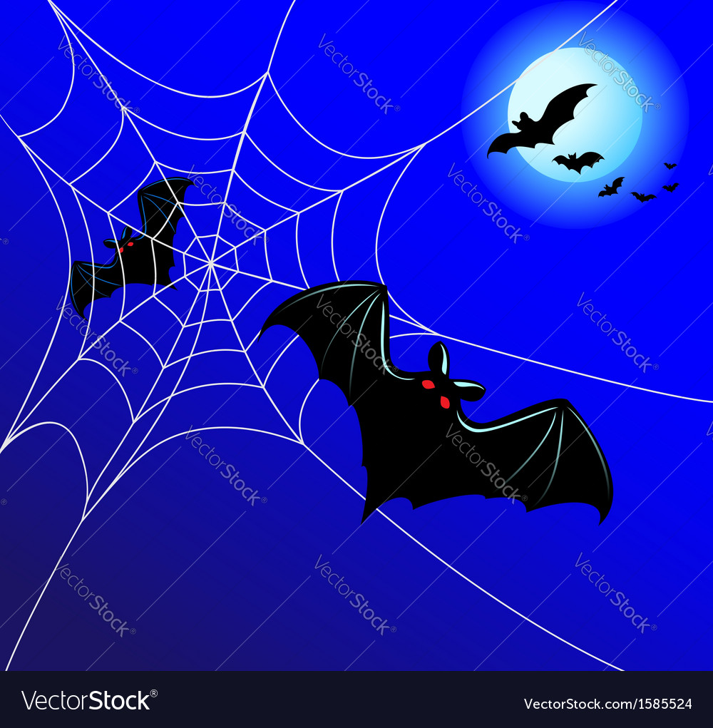 Bats and a web vector   Price: 1 Credit (USD $1)