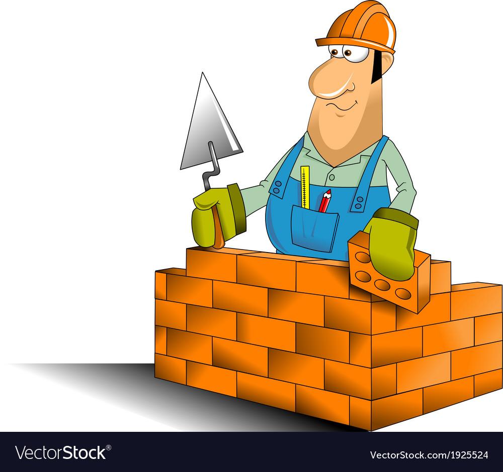 Builder cartoon vector