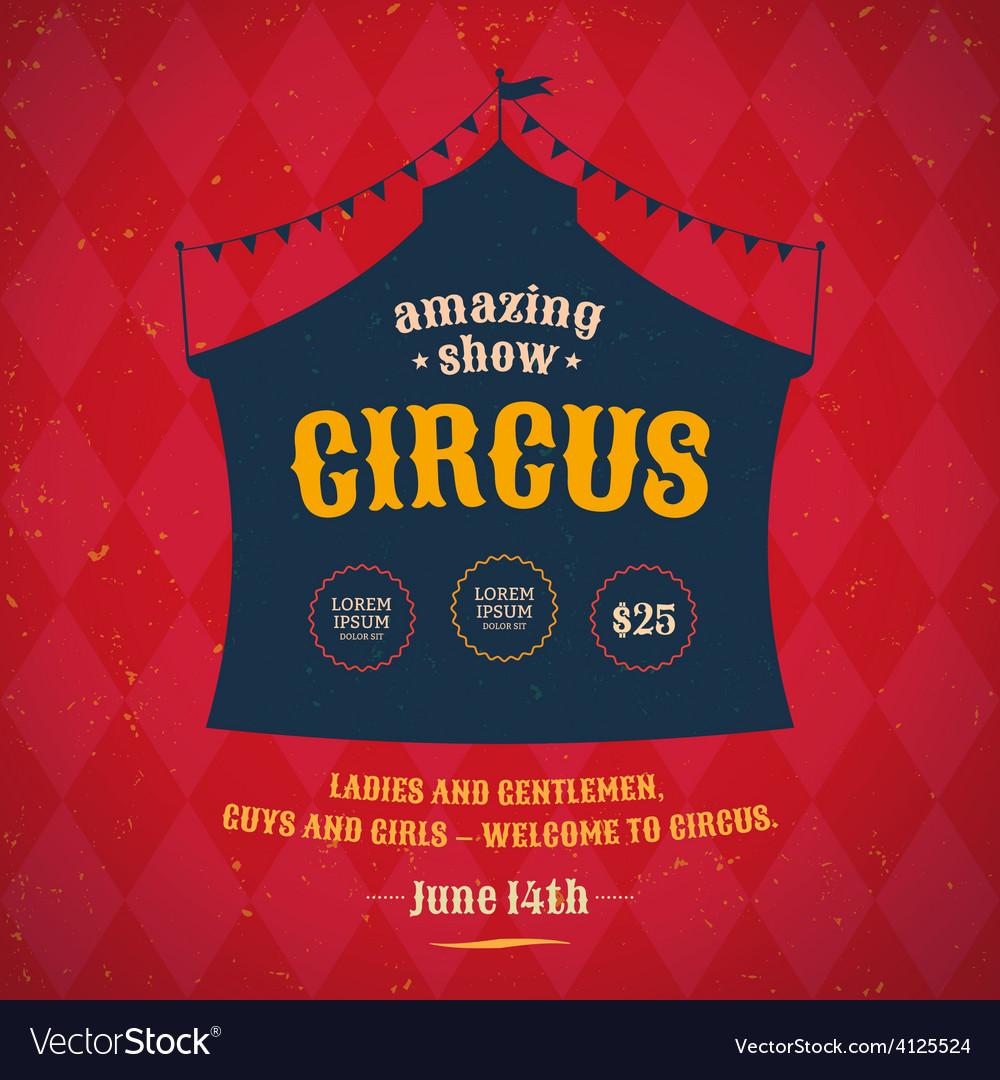 Circus poster vector | Price: 1 Credit (USD $1)