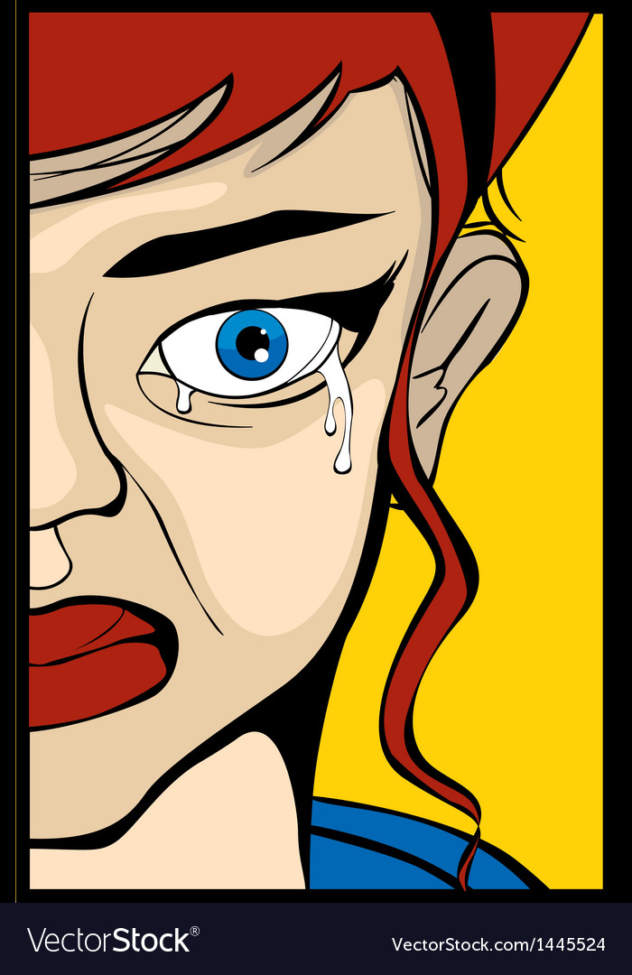 Crying eye vector | Price: 3 Credit (USD $3)