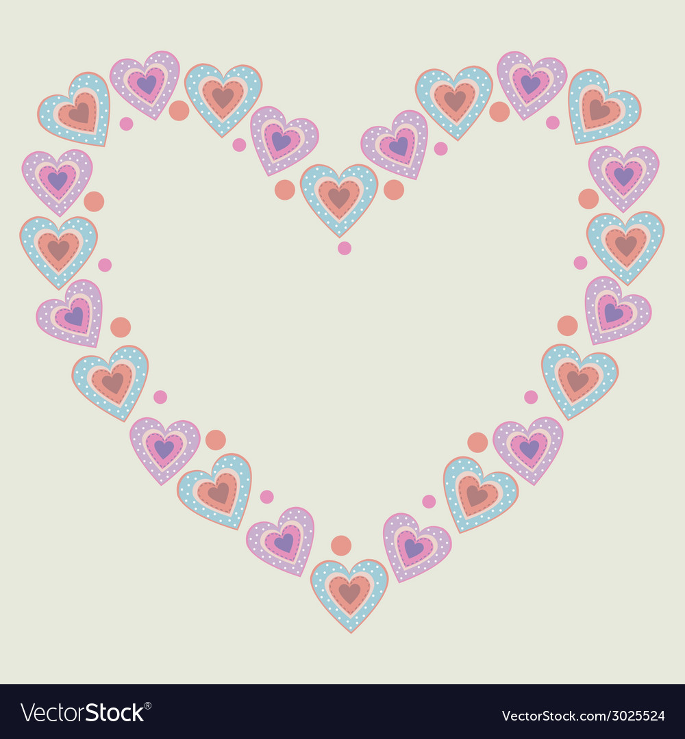 Cute heart frame vector | Price: 1 Credit (USD $1)