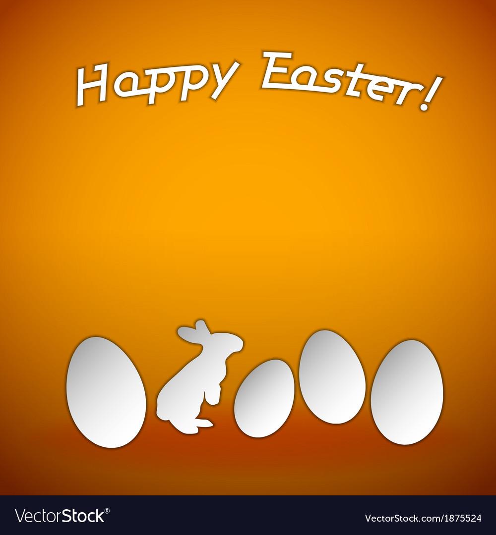 Easter background orange vector | Price: 1 Credit (USD $1)
