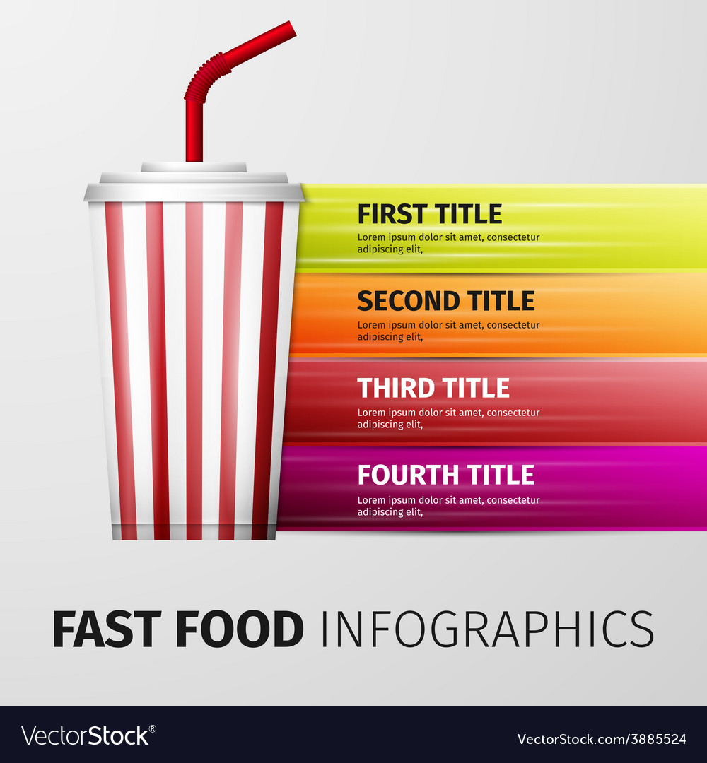 Fast food infographics vector | Price: 1 Credit (USD $1)