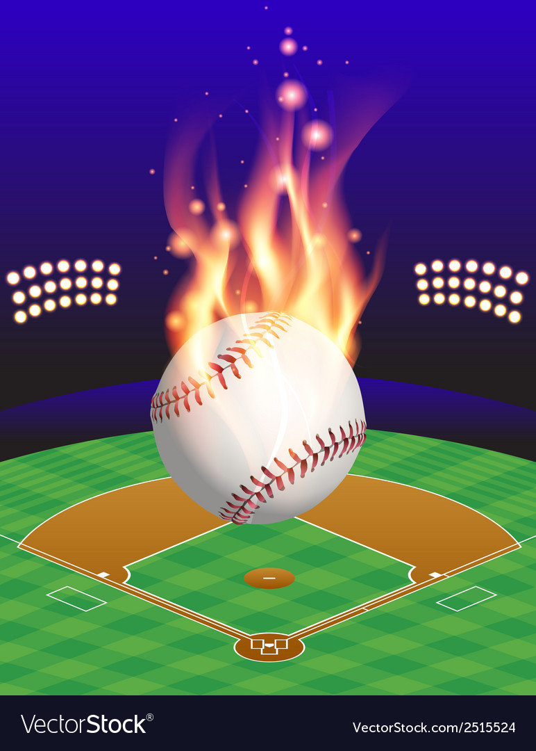 Fire baseball field vector | Price: 1 Credit (USD $1)