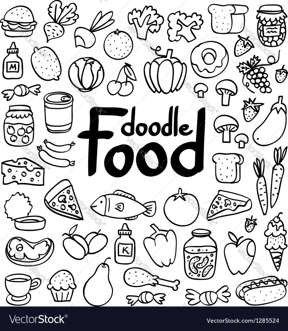 Food doodle vector | Price: 1 Credit (USD $1)