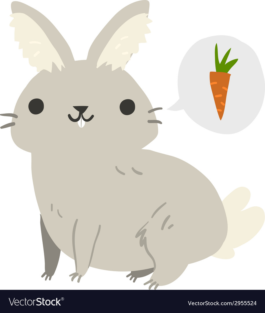 Funny cartoon rabbit mascot vector | Price: 1 Credit (USD $1)