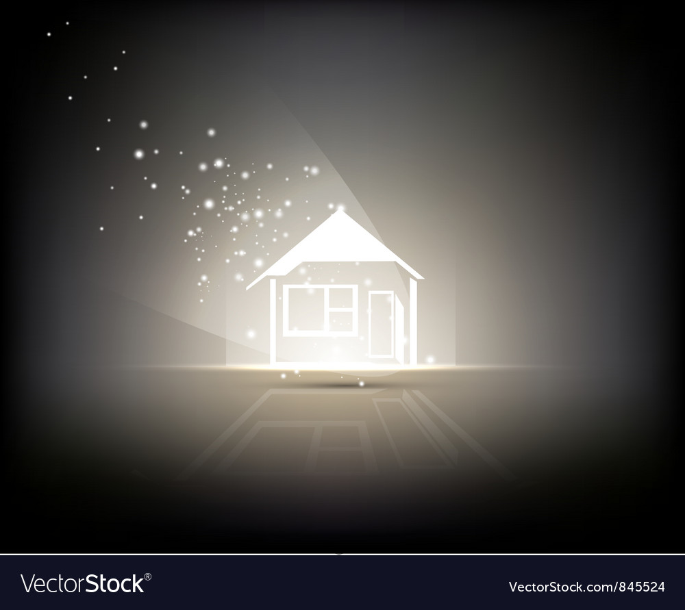 Illuminated home vector | Price: 1 Credit (USD $1)