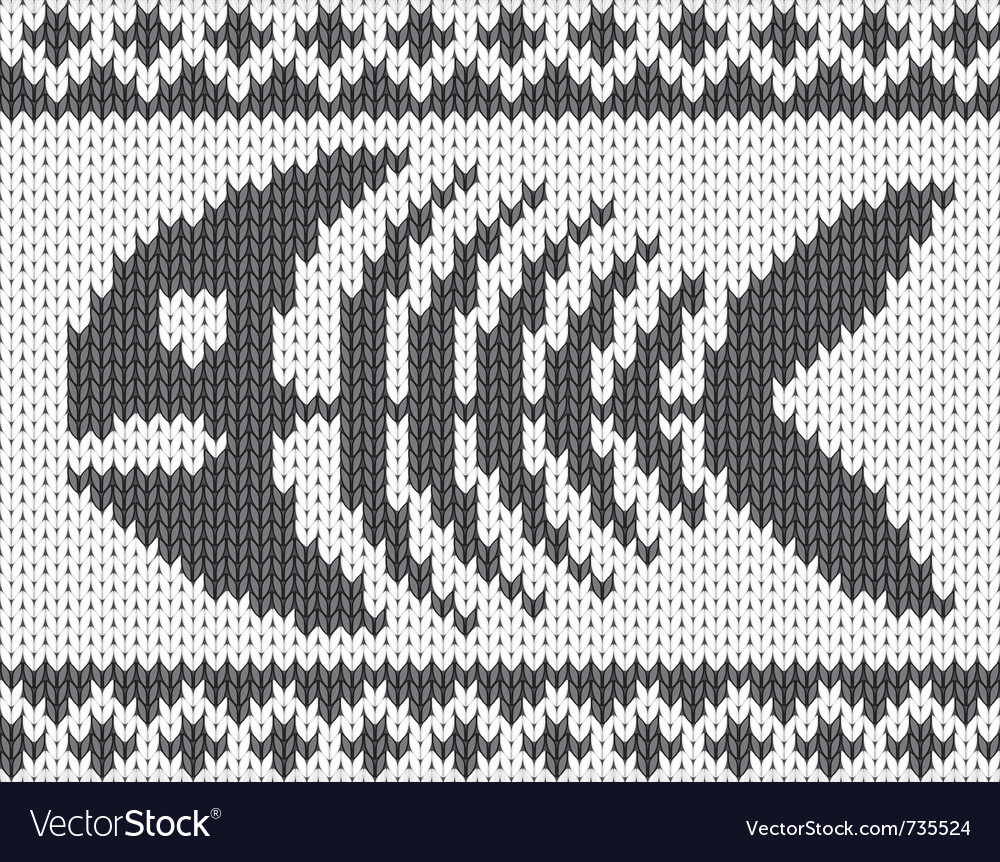 Knitted pattern with fish skeleton vector | Price: 1 Credit (USD $1)