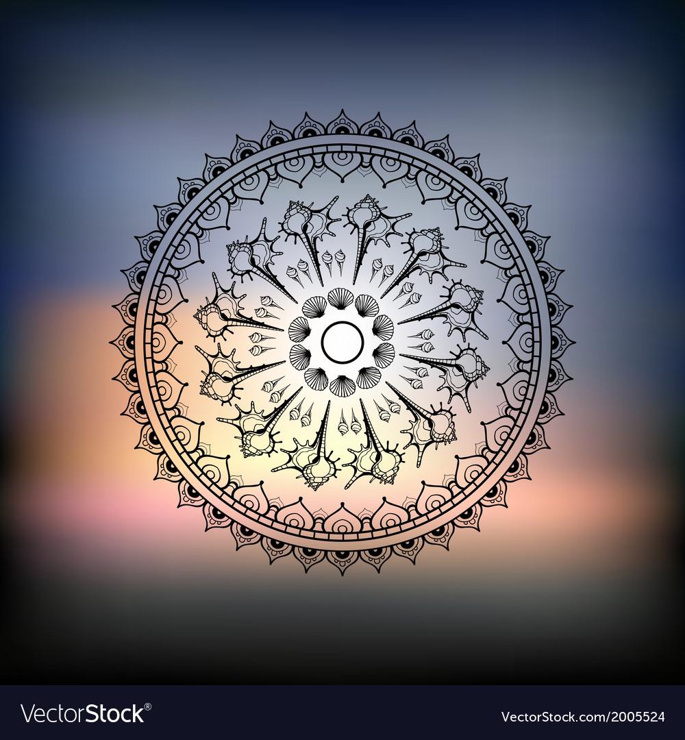 Mandala sea background vector | Price: 1 Credit (USD $1)