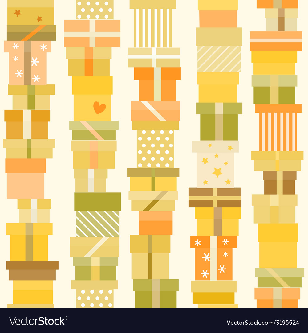Seamless pattern with presents vector | Price: 1 Credit (USD $1)