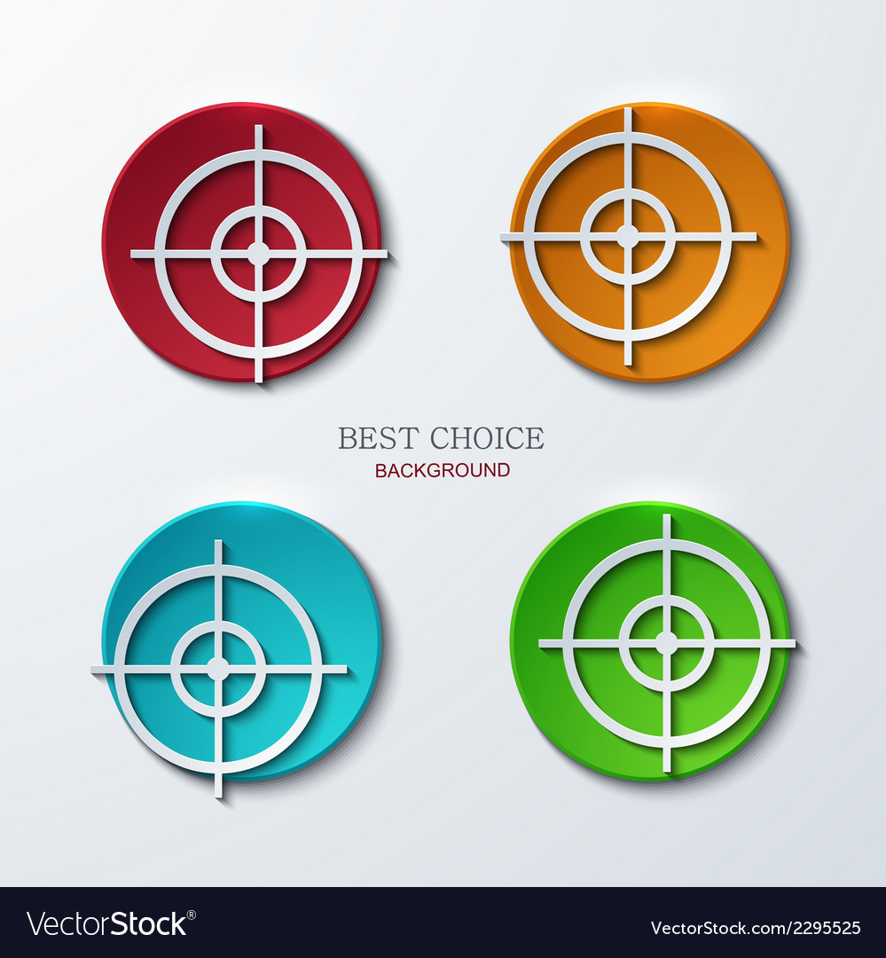 Aim icons set on sample background vector | Price: 1 Credit (USD $1)
