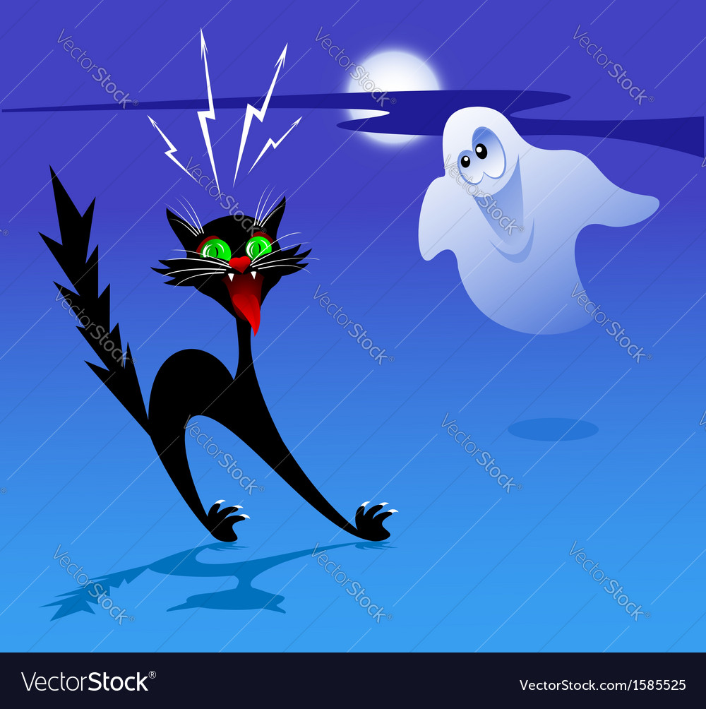 Cat and ghost vector   Price: 1 Credit (USD $1)