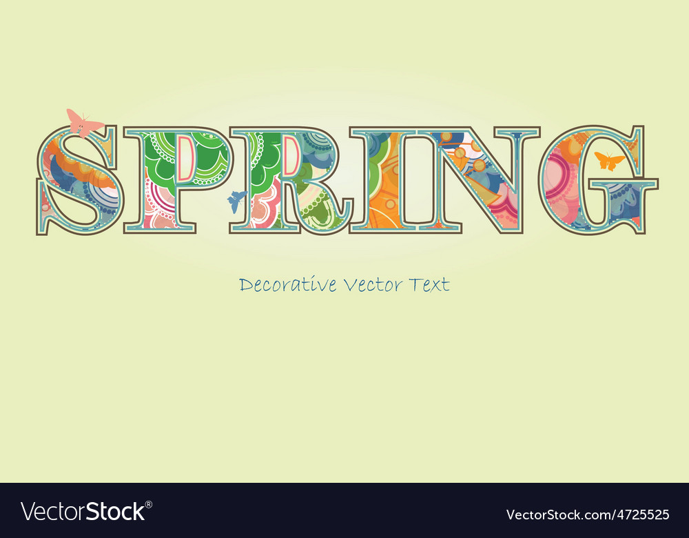 Decorative spring text with transparency and vector | Price: 1 Credit (USD $1)