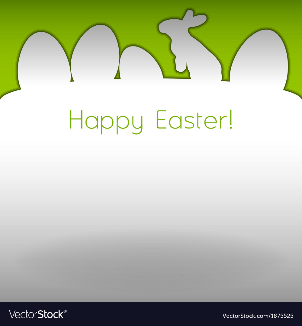 Easter background white vector | Price: 1 Credit (USD $1)
