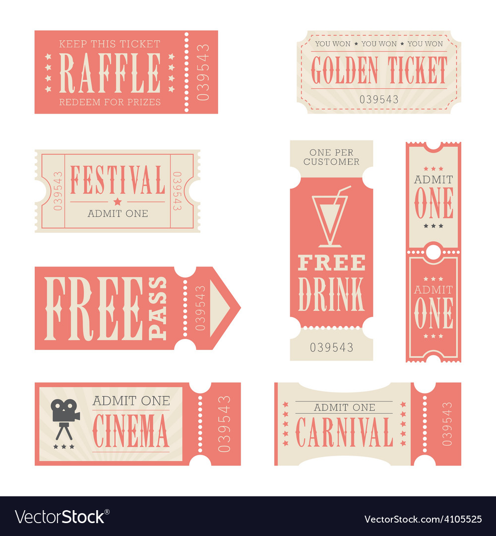 Festival and carnival tickets vector | Price: 1 Credit (USD $1)