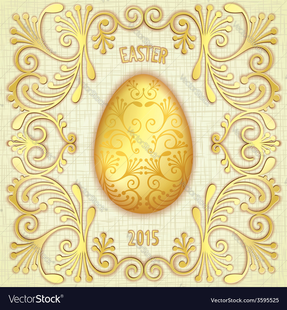 Happy easter jewelry egg vector | Price: 1 Credit (USD $1)